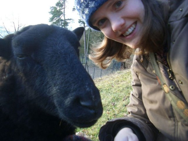Katie Green and Sheep