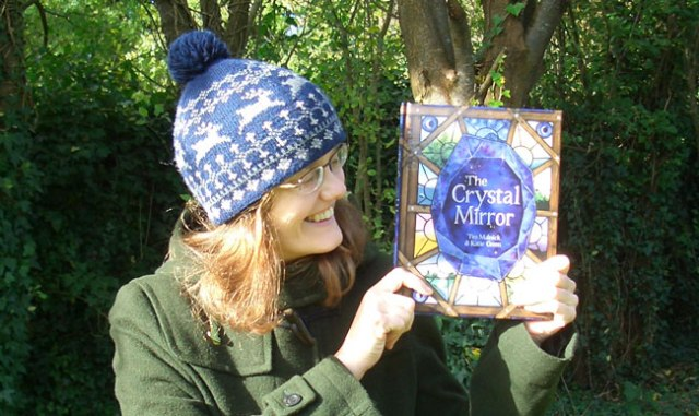 Katie Holding The Crystal Mirror