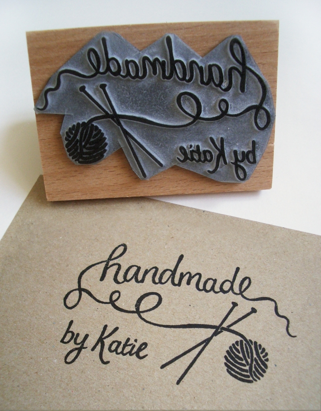 Handmade by Knitters' Stamp
