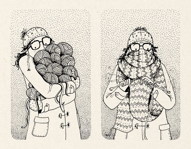 The Courage To Be Me Knitting