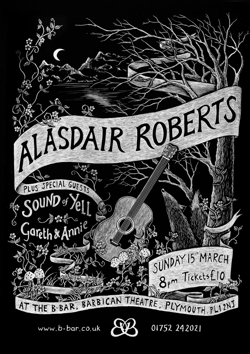 Alasdair Roberts at B Bar Plymouth